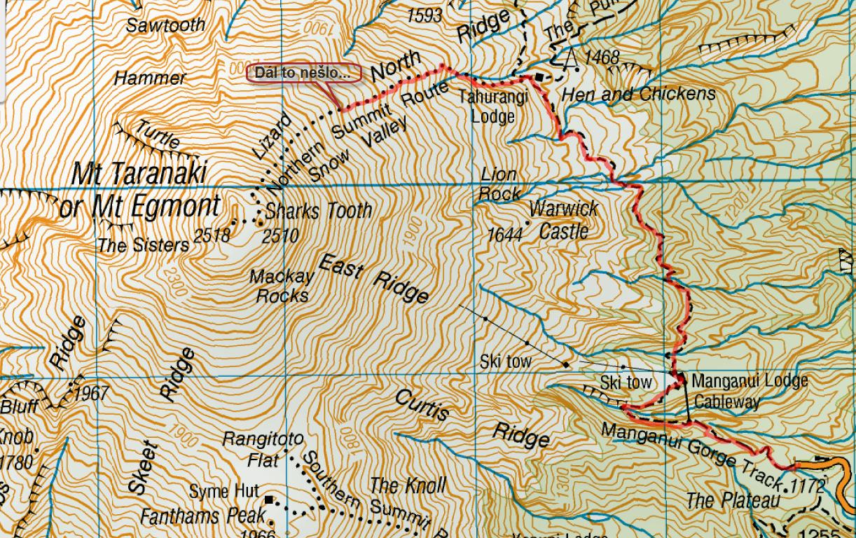 Pokus o výstup na Mt. Taranaki