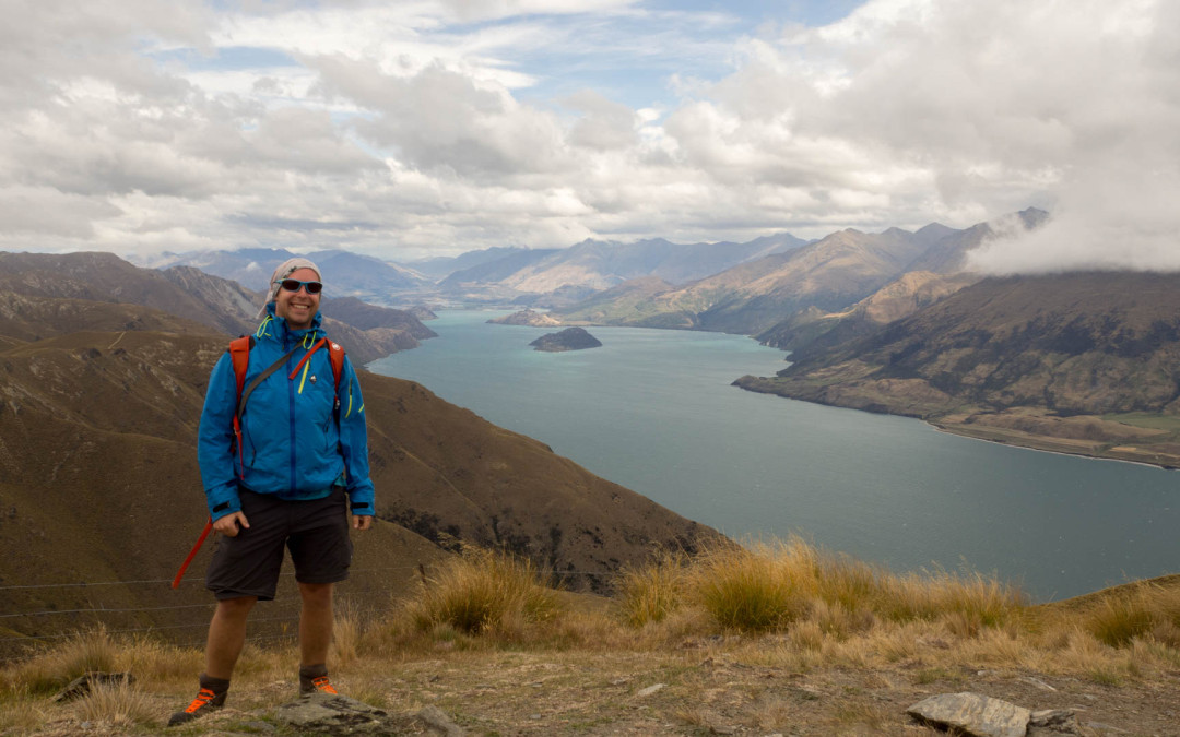 Lake  Hawea, Lake Wanaka, trek Isthmus Peak